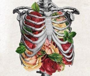 грудная клетка и цветы
