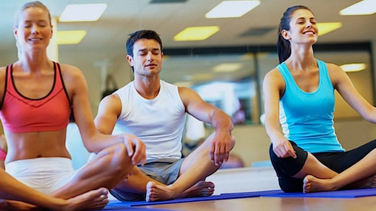 В первый раз в йога-класс