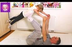 ЙОГА Челлендж ВЫЗОВ! Развлечения для детей, Милана с папой показывают позы! Kids Yoga Challenge