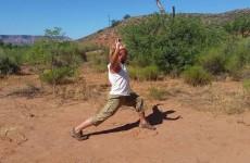 Короткий комплекс вправ без килимочка на кемпінгу. Ваджра йога з Анатолієм Пахомовим.