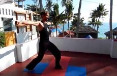 Вирабхадра I в линии Ваджра йоги с учетом Корректного Подхода к Позвоночнику.